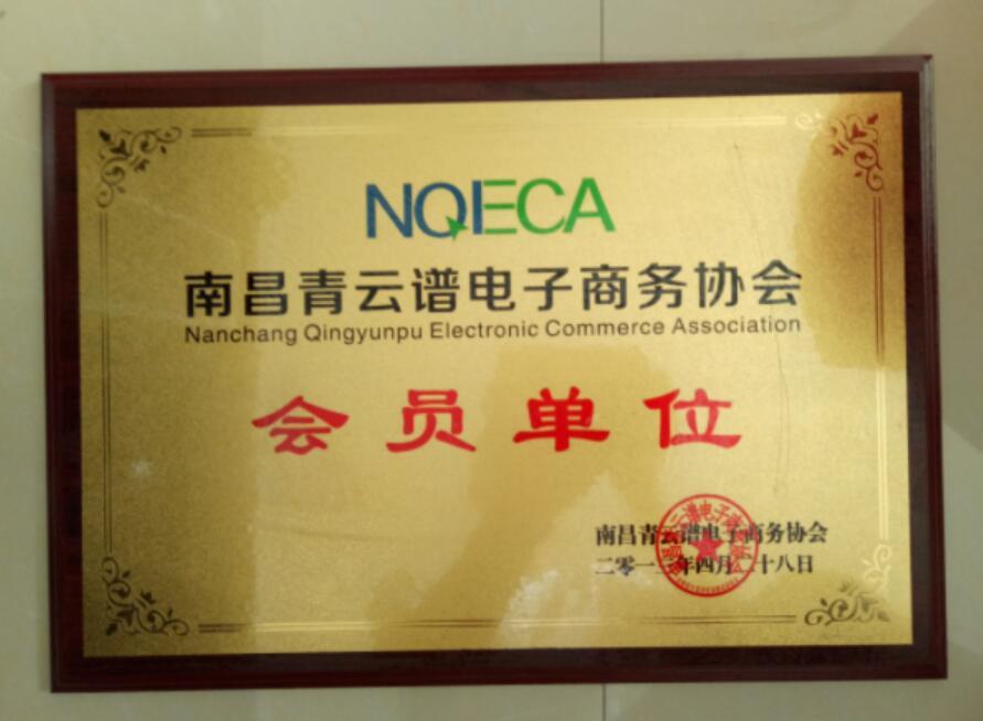 青云谱电子商务协会会员证书