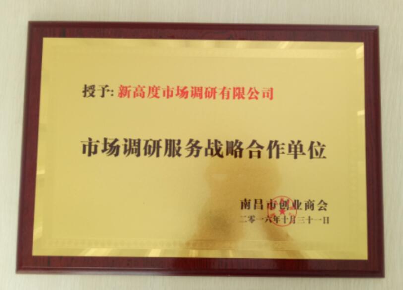 南昌市创业商会市场调研服务战略合作单位